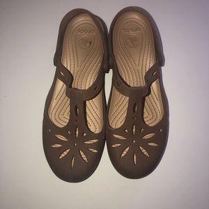 CROCS Shoes - Brown Ballet Flat Like Crocs